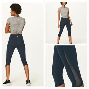 "Lululemon Train Times Crop (17"" ) Nocturnal Teal 6"